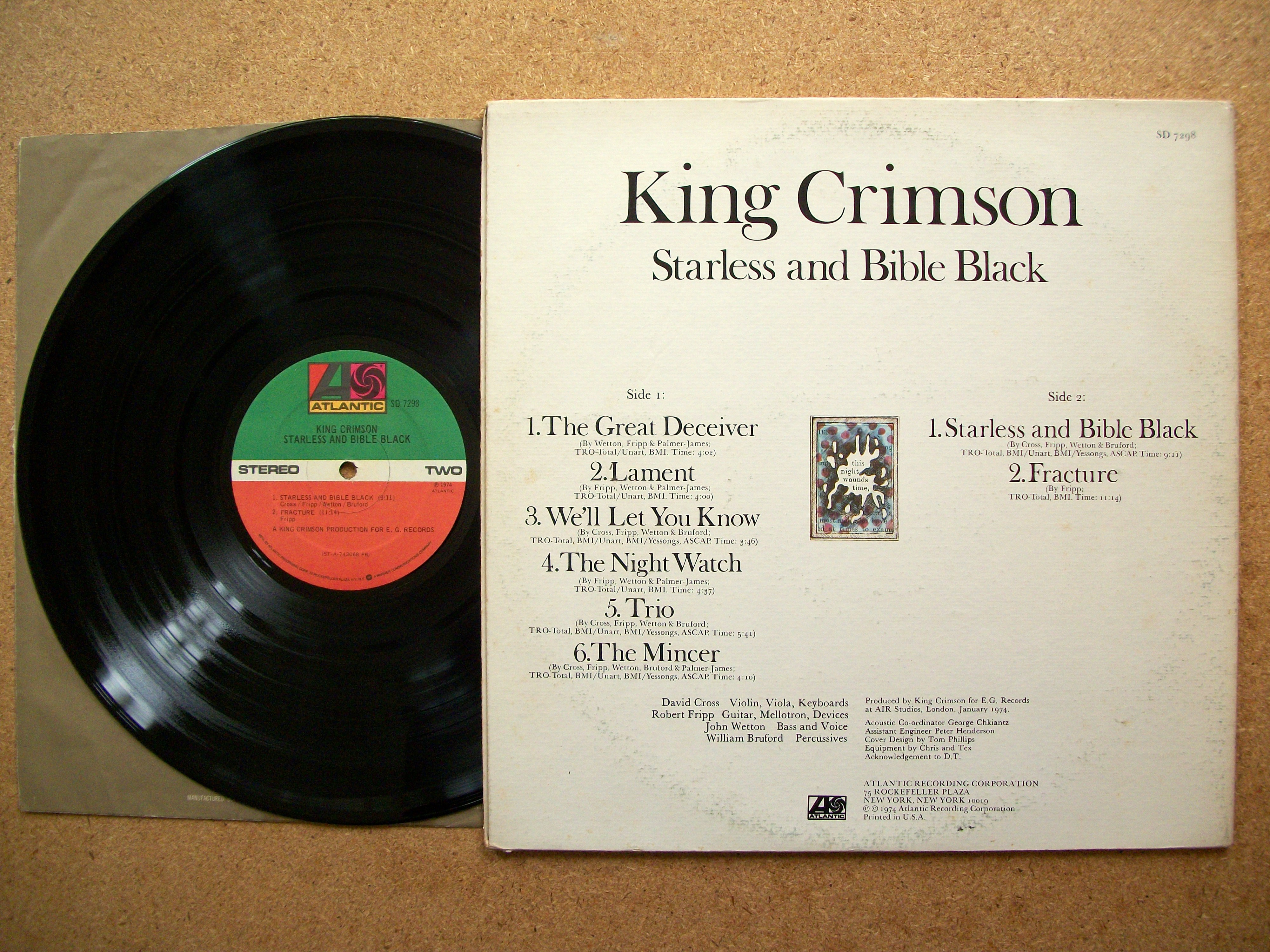 King Crimson Sinister Salad Musikal S Weblog