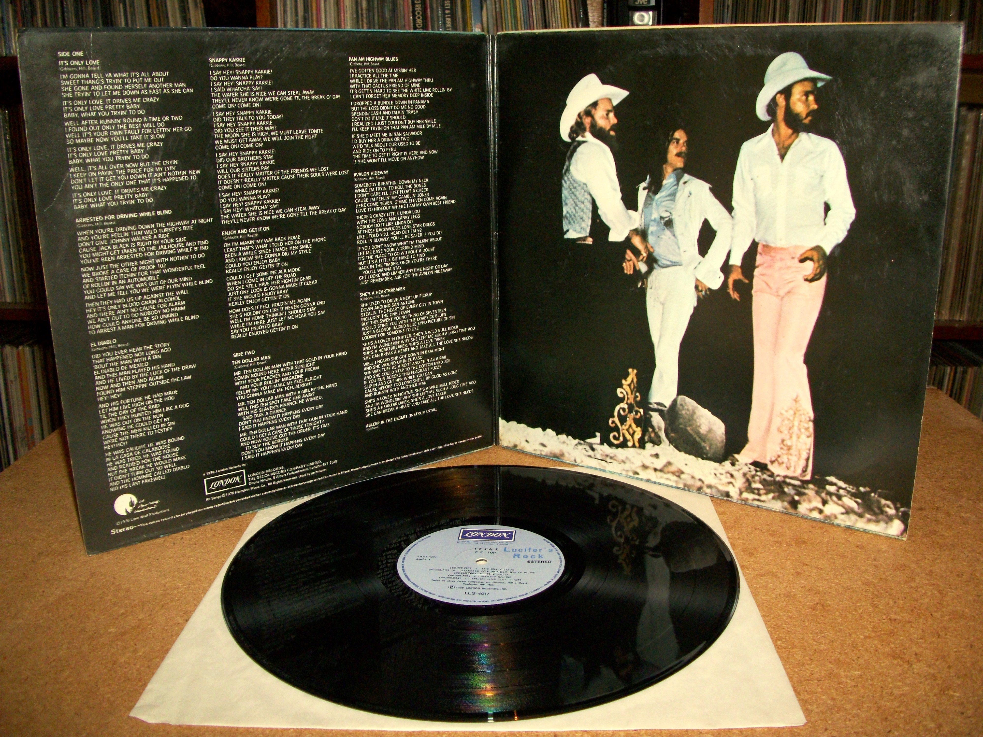 Sinister Vinyl Collection Zz Top Tejas 1977