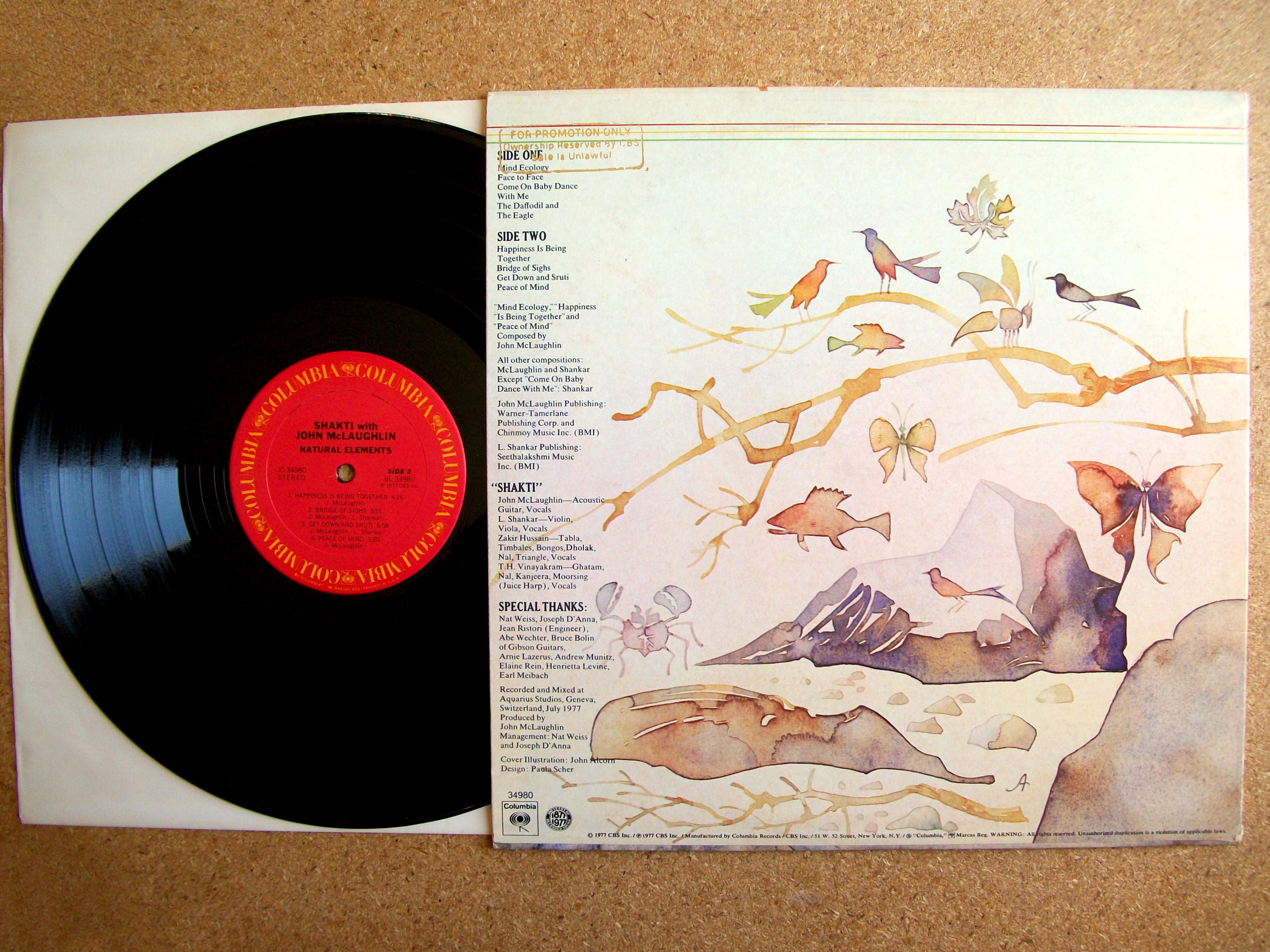 Sinister Vinyl Collection Shakti Natural Elements 1977