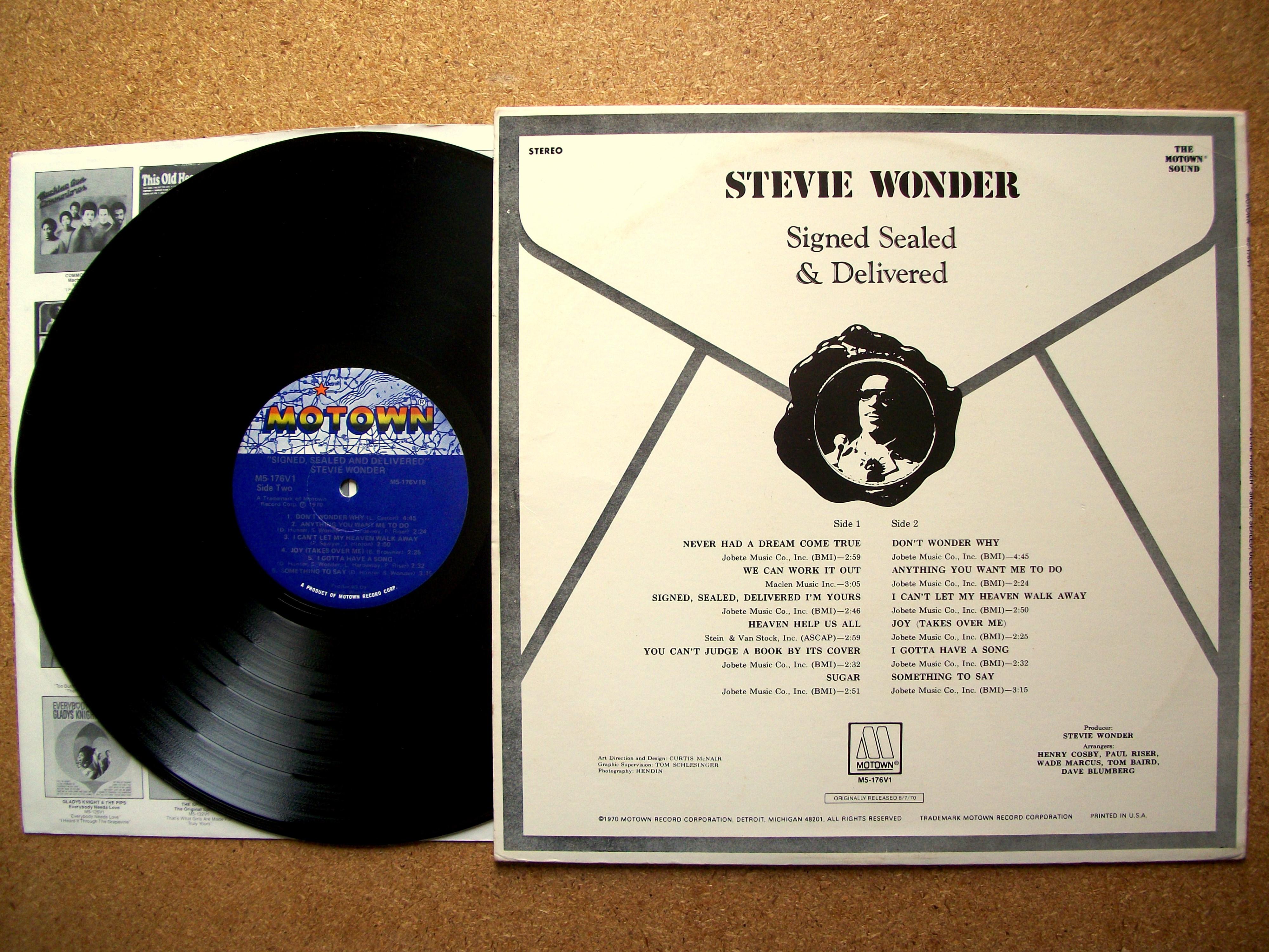 Sinister Vinyl Collection Stevie Wonder Signed Sealed