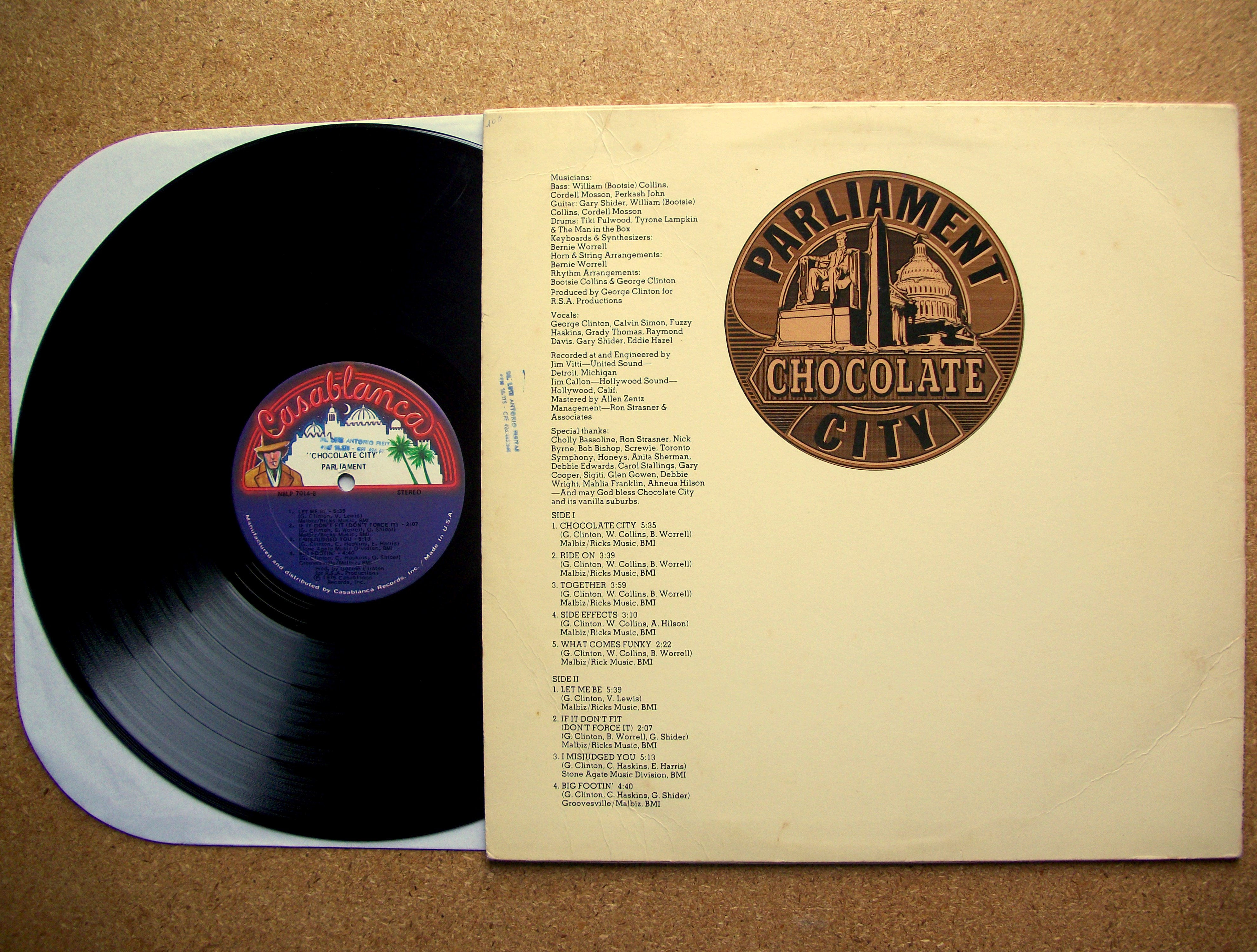 SINISTER VINYL COLLECTION: PARLIAMENT – CHOCOLATE CITY (1975 ...