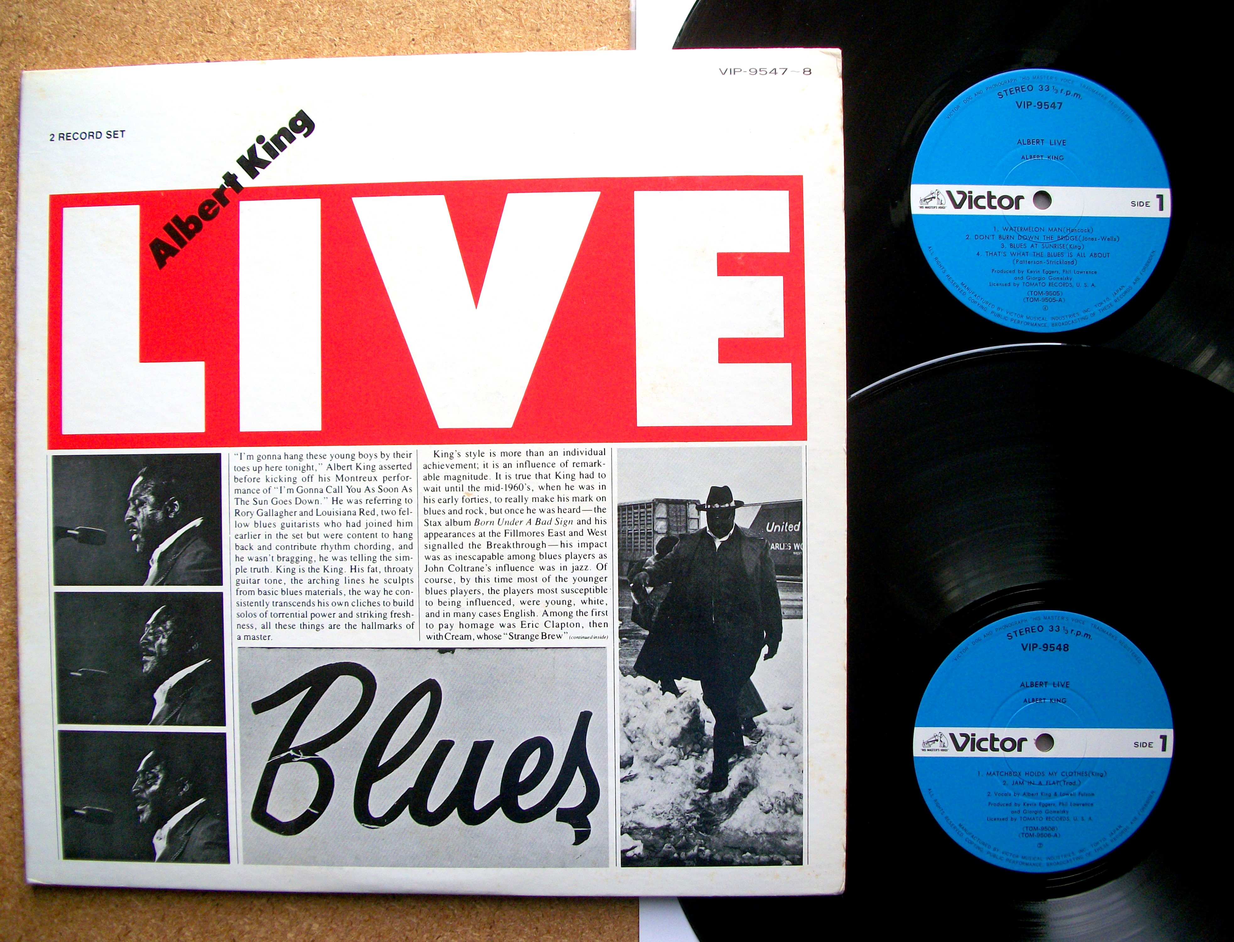 Sinister Vinyl Collection Albert King Live Blues 1977