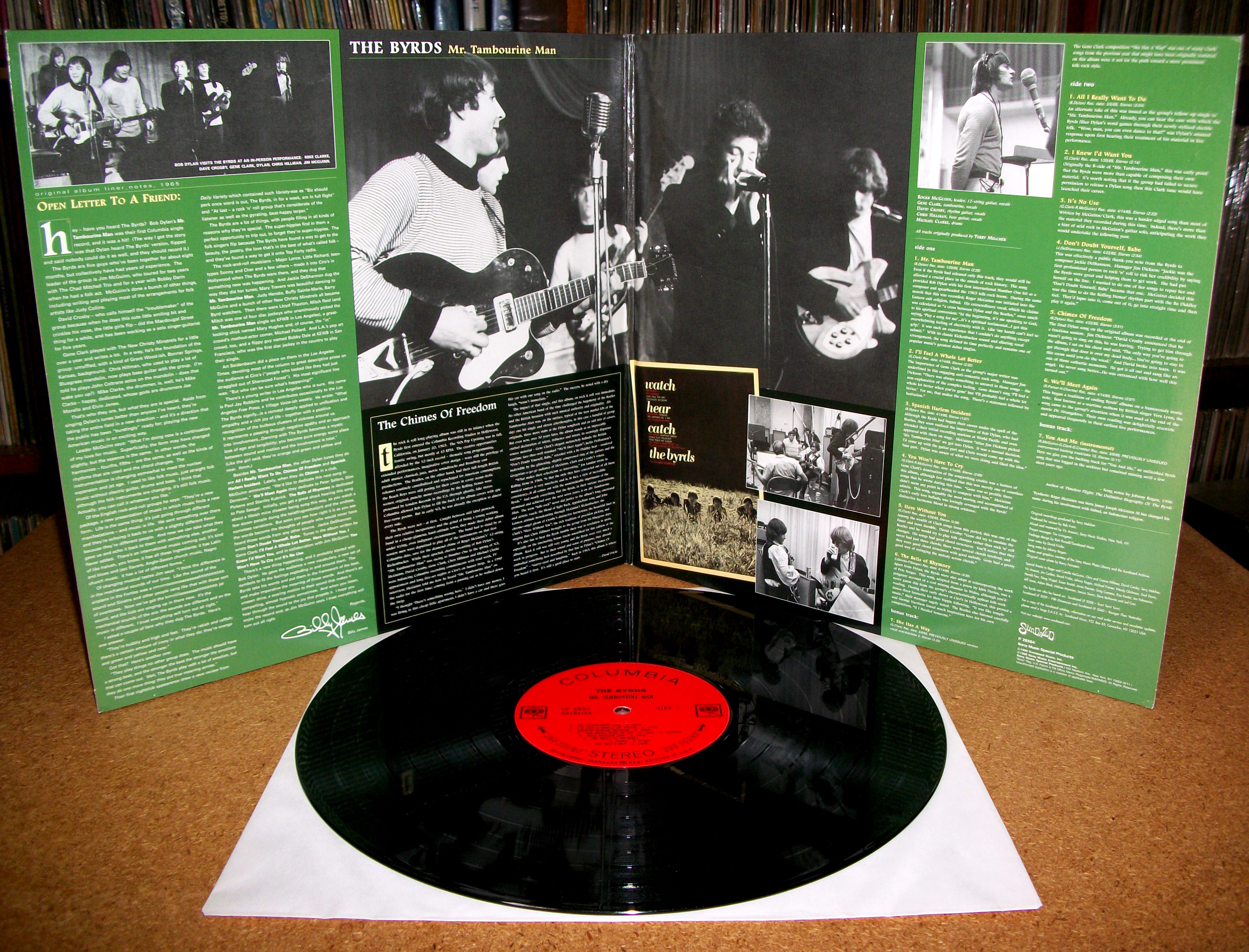 Sinister Vinyl Collection The Byrds Mr Tambourine Man 1965