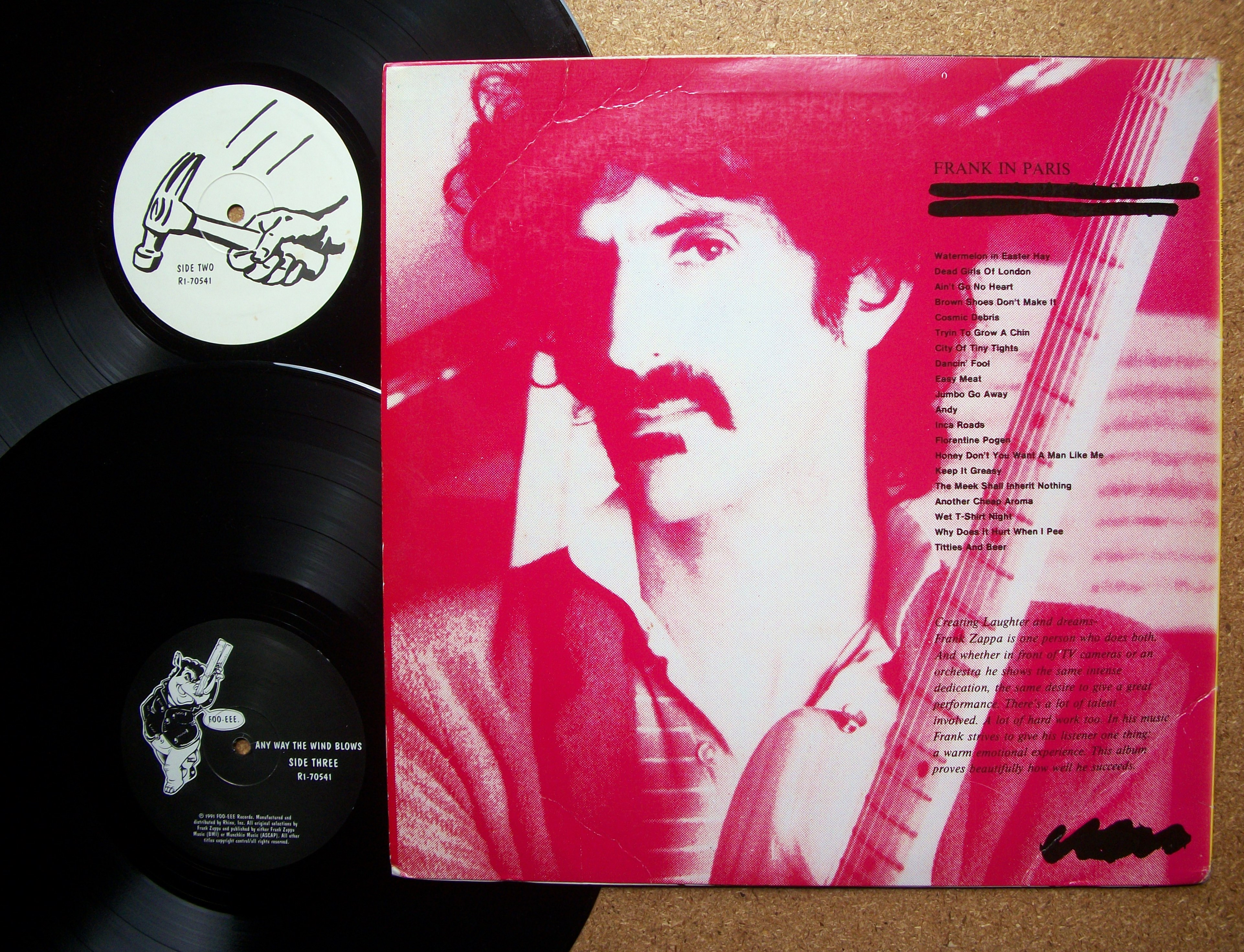 Sinister Vinyl Collection Frank Zappa Anyway The Wind
