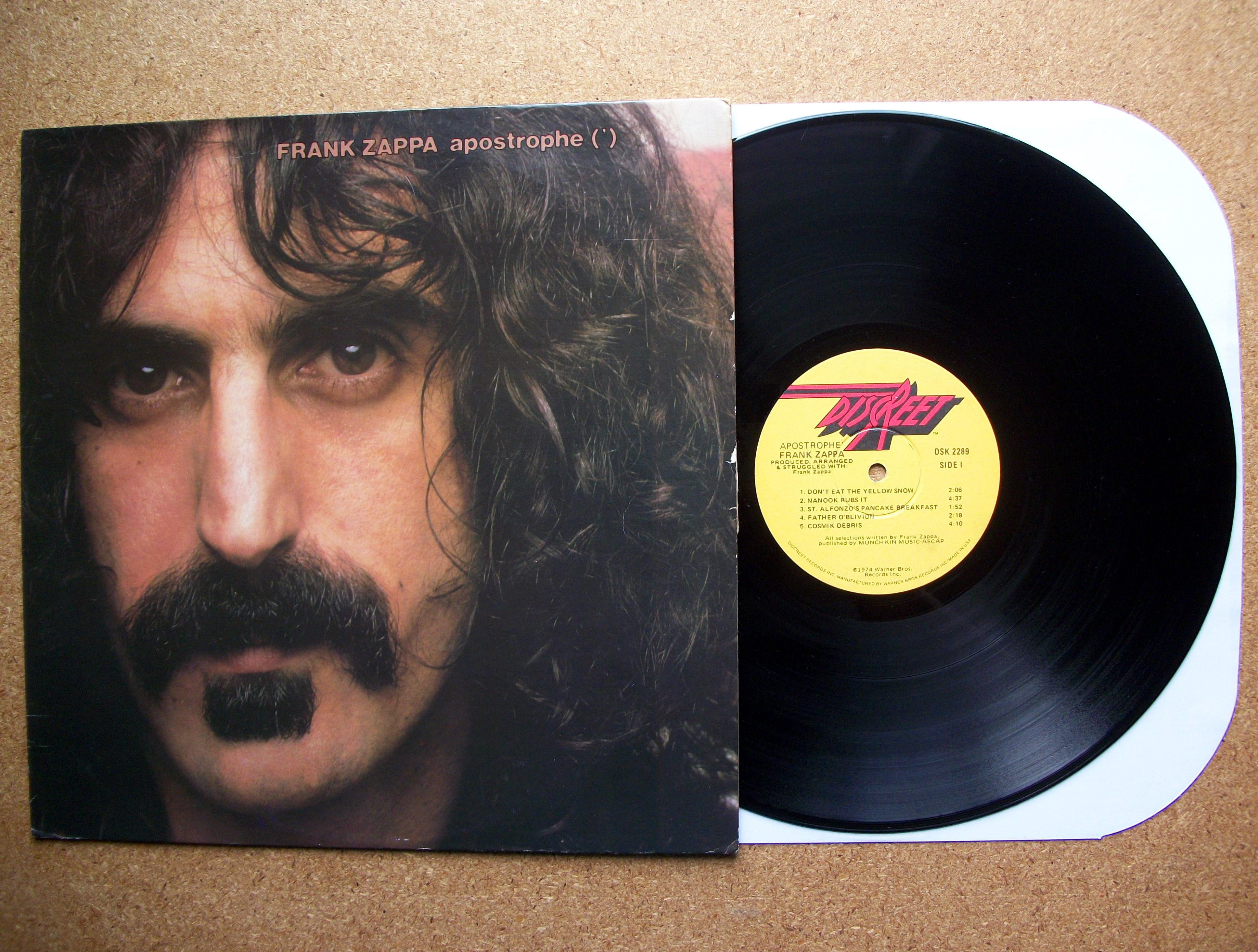 Sinister Vinyl Collection Frank Zappa Apostrophe