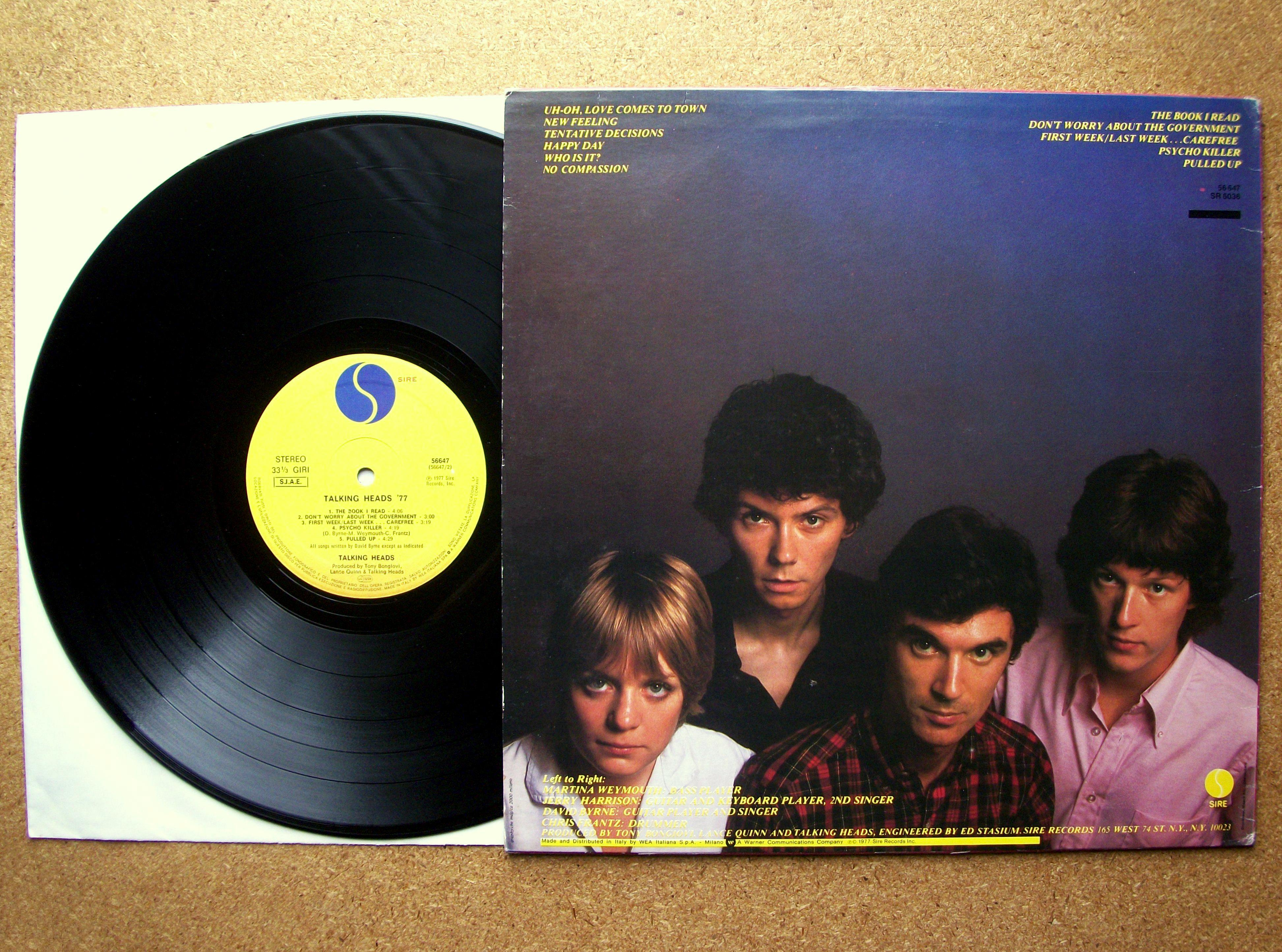 Sinister Vinyl Collection Talking Heads Talking Heads