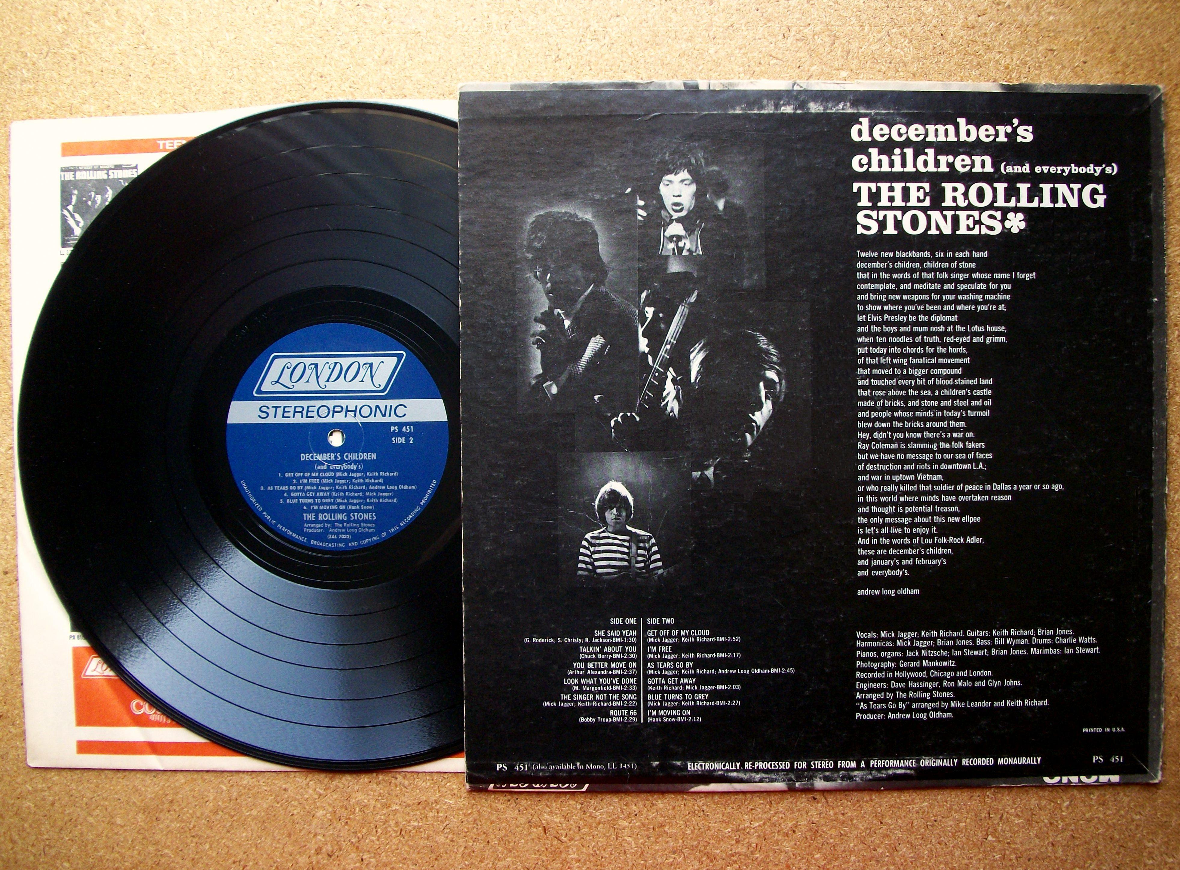 Sinister Vinyl Collection The Rolling Stones December S
