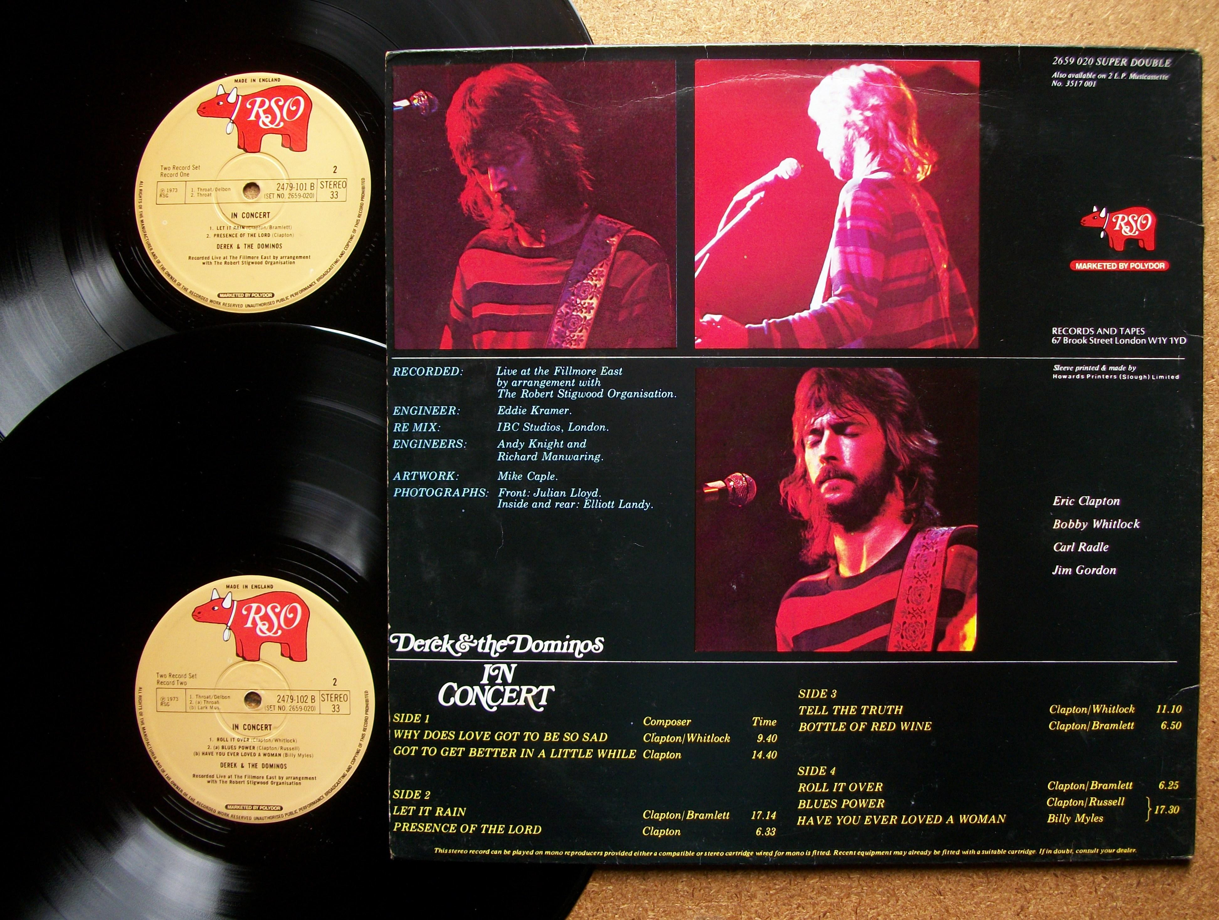 SINISTER VINYL COLLECTION: DEREK AND THE DOMINOS U2013 IN CONCERT (1973)