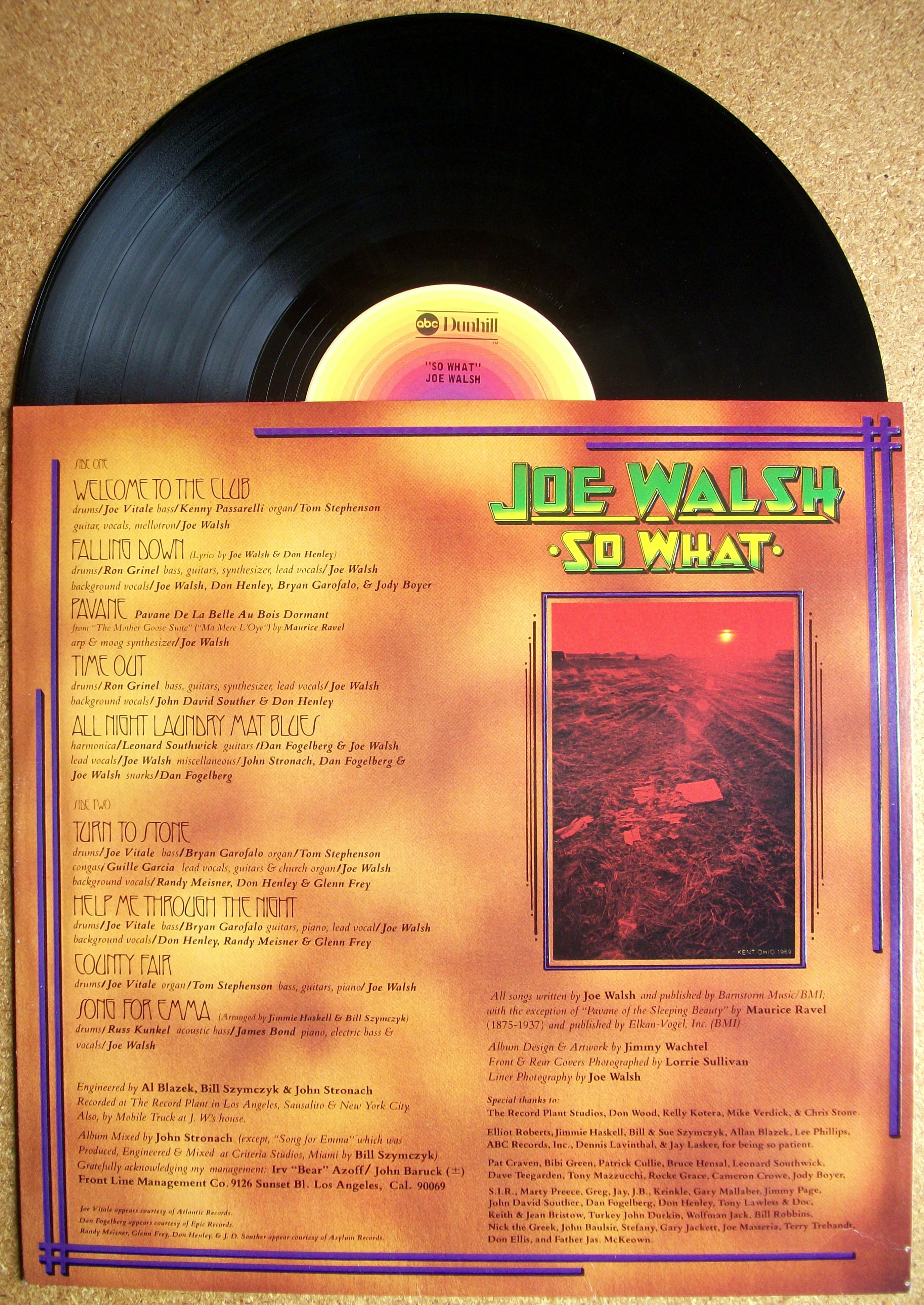SINISTER VINYL COLLECTION: JOE WALSH – SO WHAT (1974) | Sinister