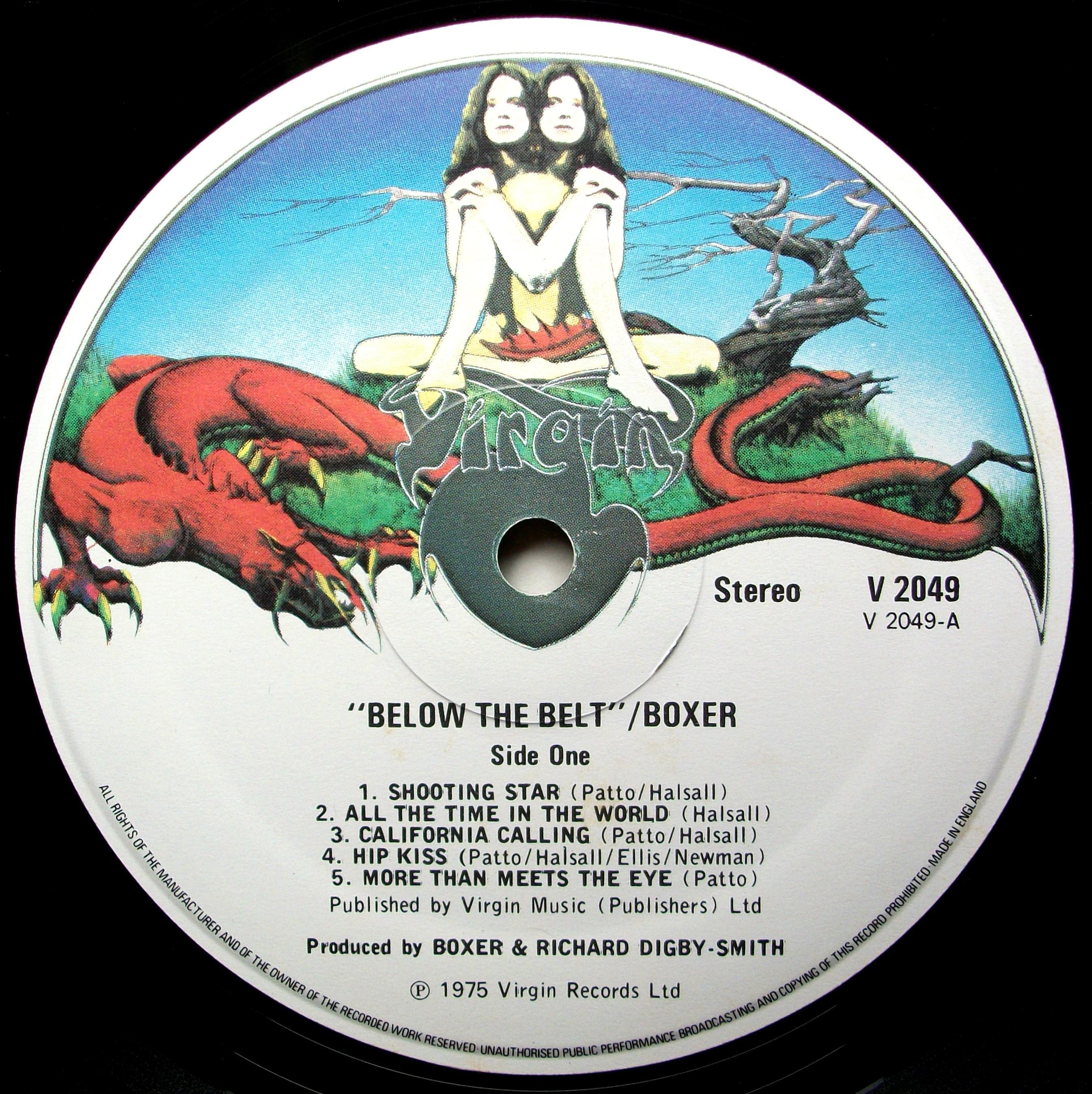 SINISTER VINYL COLLECTION  BOXER – BELOW THE BELT (1975)  c6155f97bc286