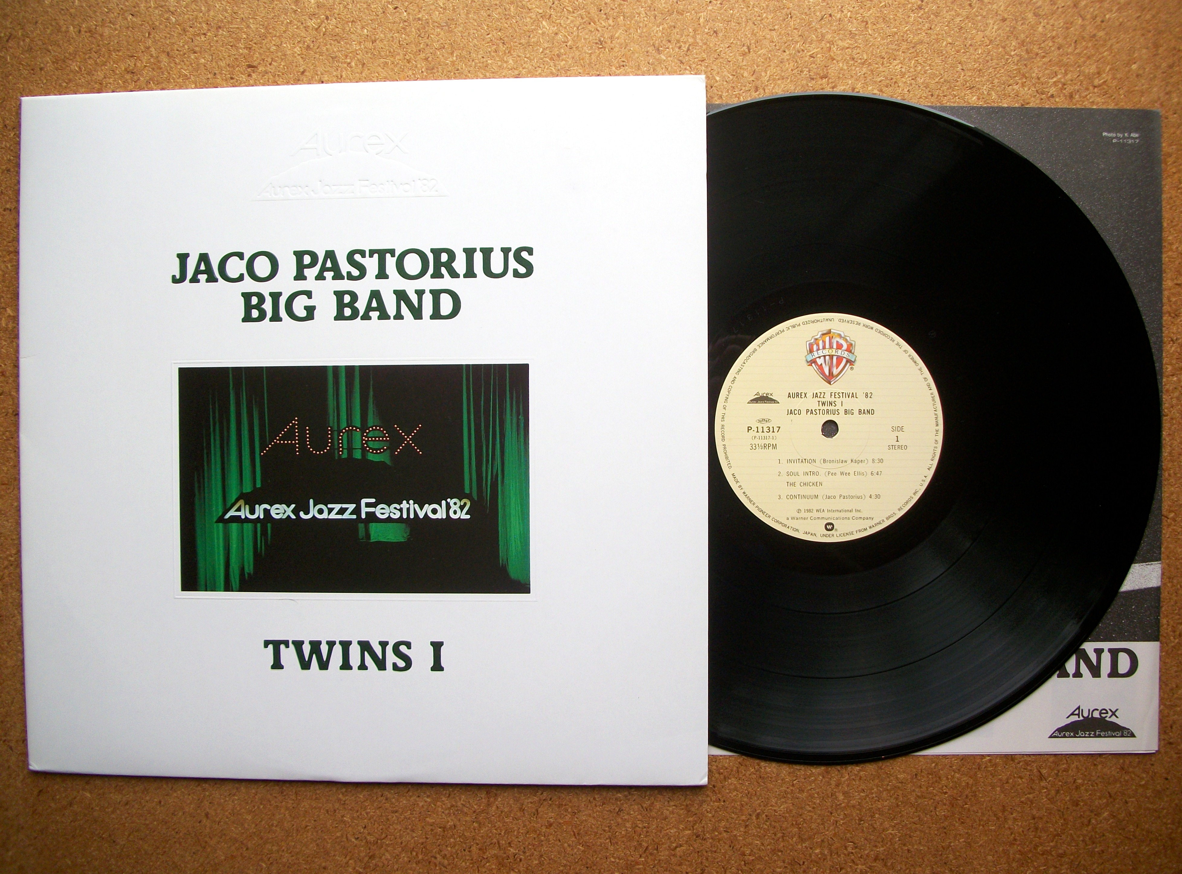 Sinister vinyl collection jaco pastorius big band twins i aurex sinister vinyl collection jaco pastorius big band twins i aurex jazz festival 82 1982 stopboris Image collections