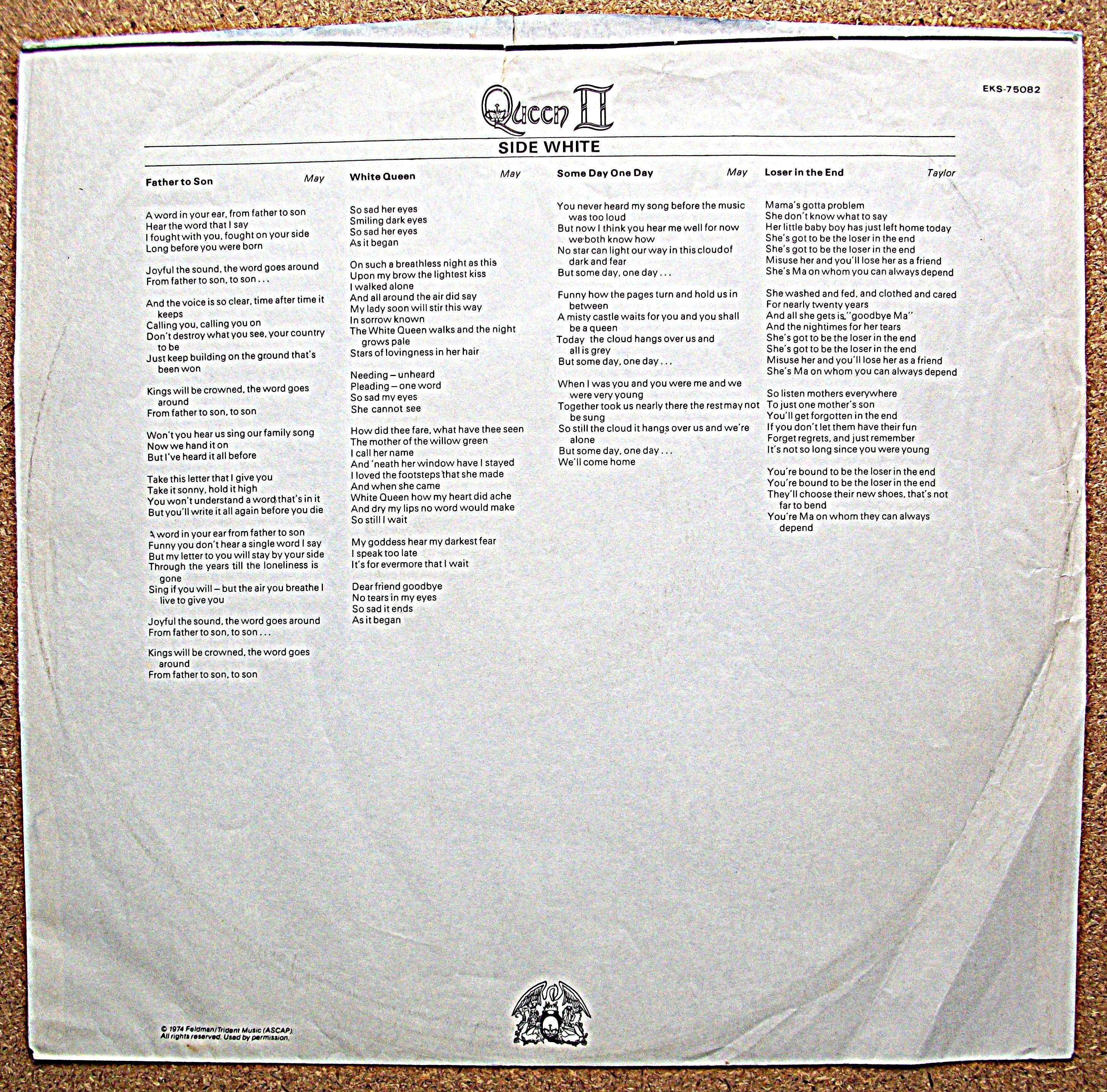 SINISTER VINYL COLLECTION: QUEEN – QUEEN II (1974