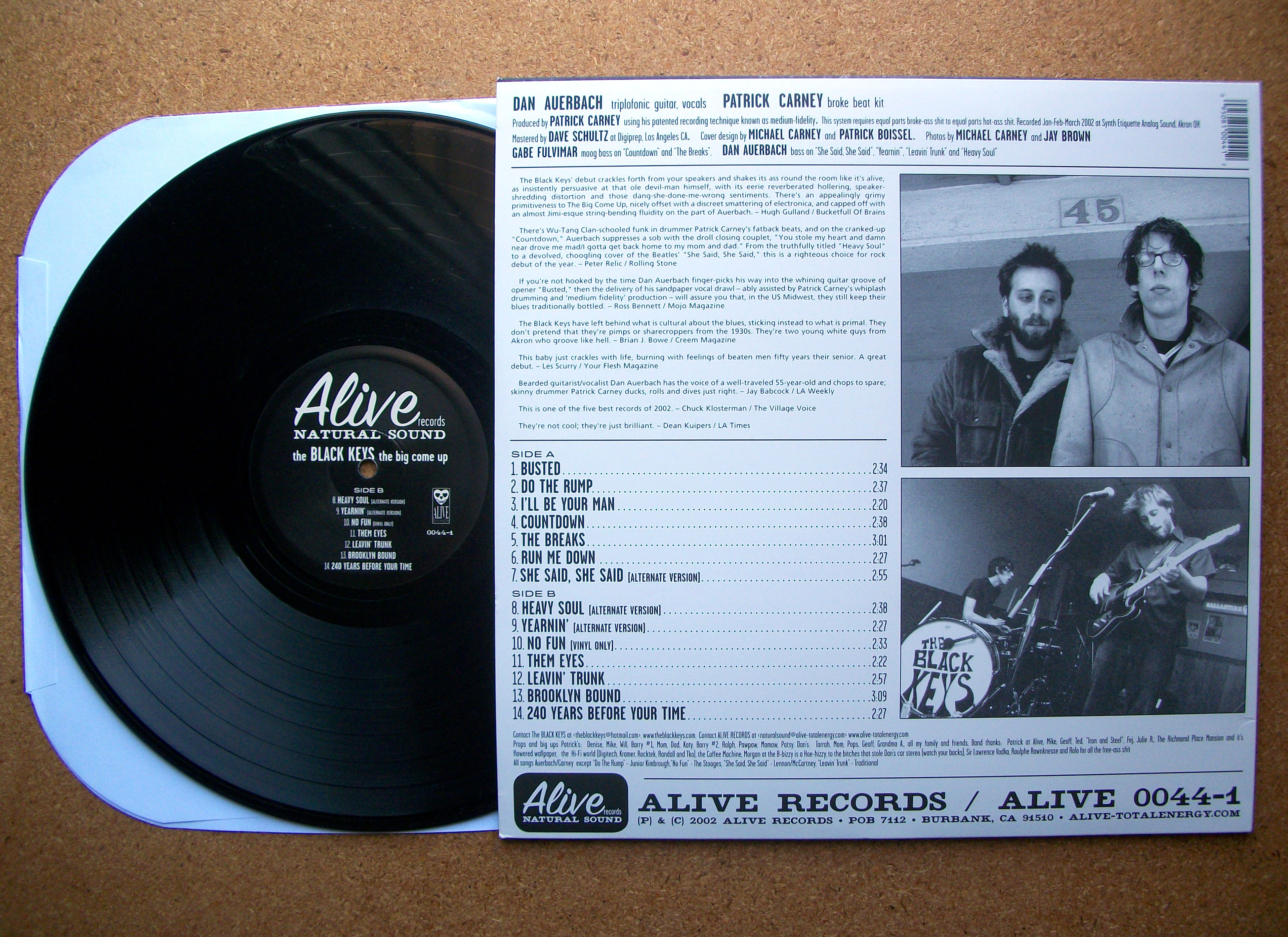 Sinister Vinyl Collection The Black Keys The Big Come
