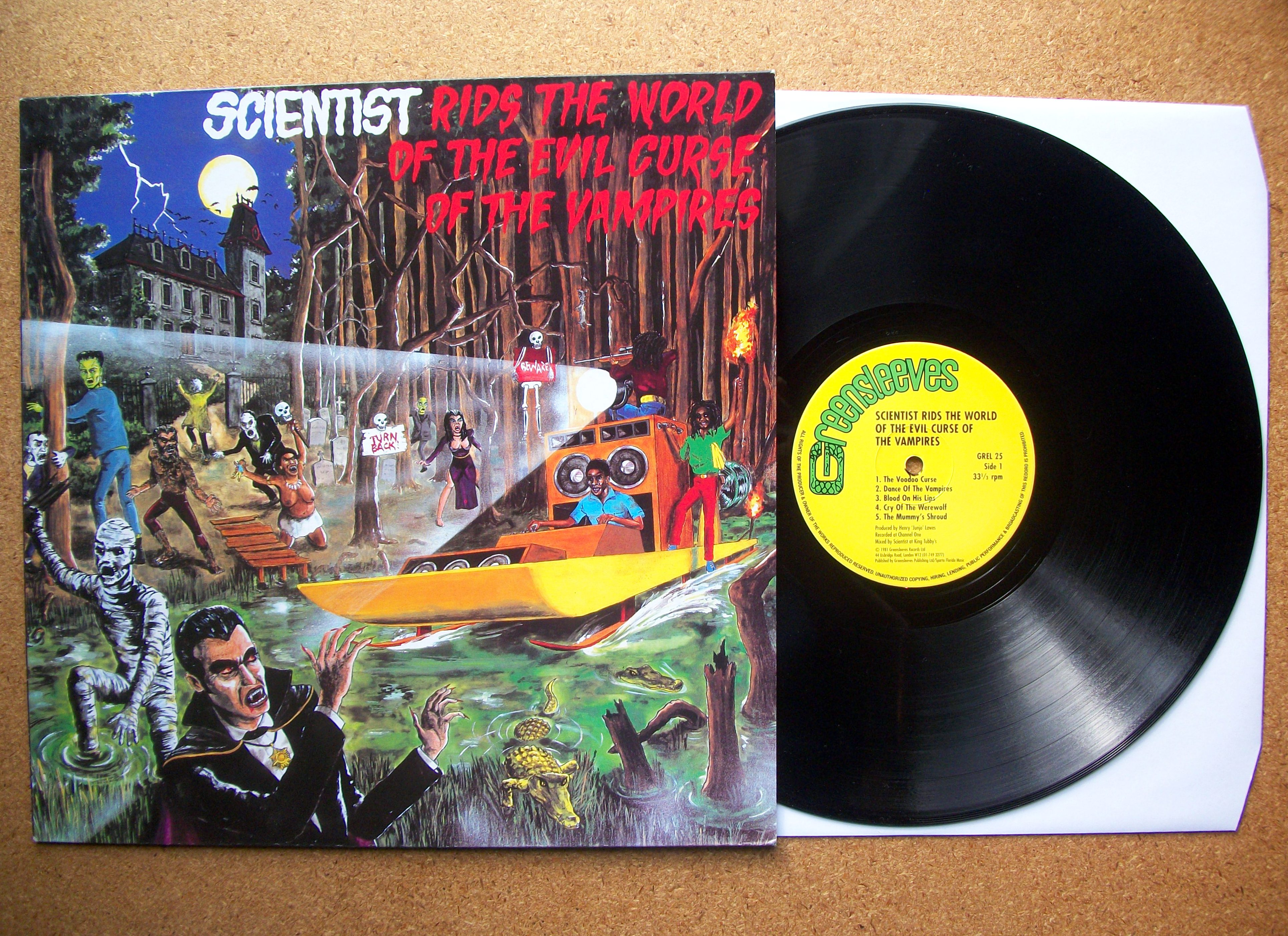 SINISTER VINYL COLLECTION: SCIENTIST – RIDS THE WORLD OF THE EVIL