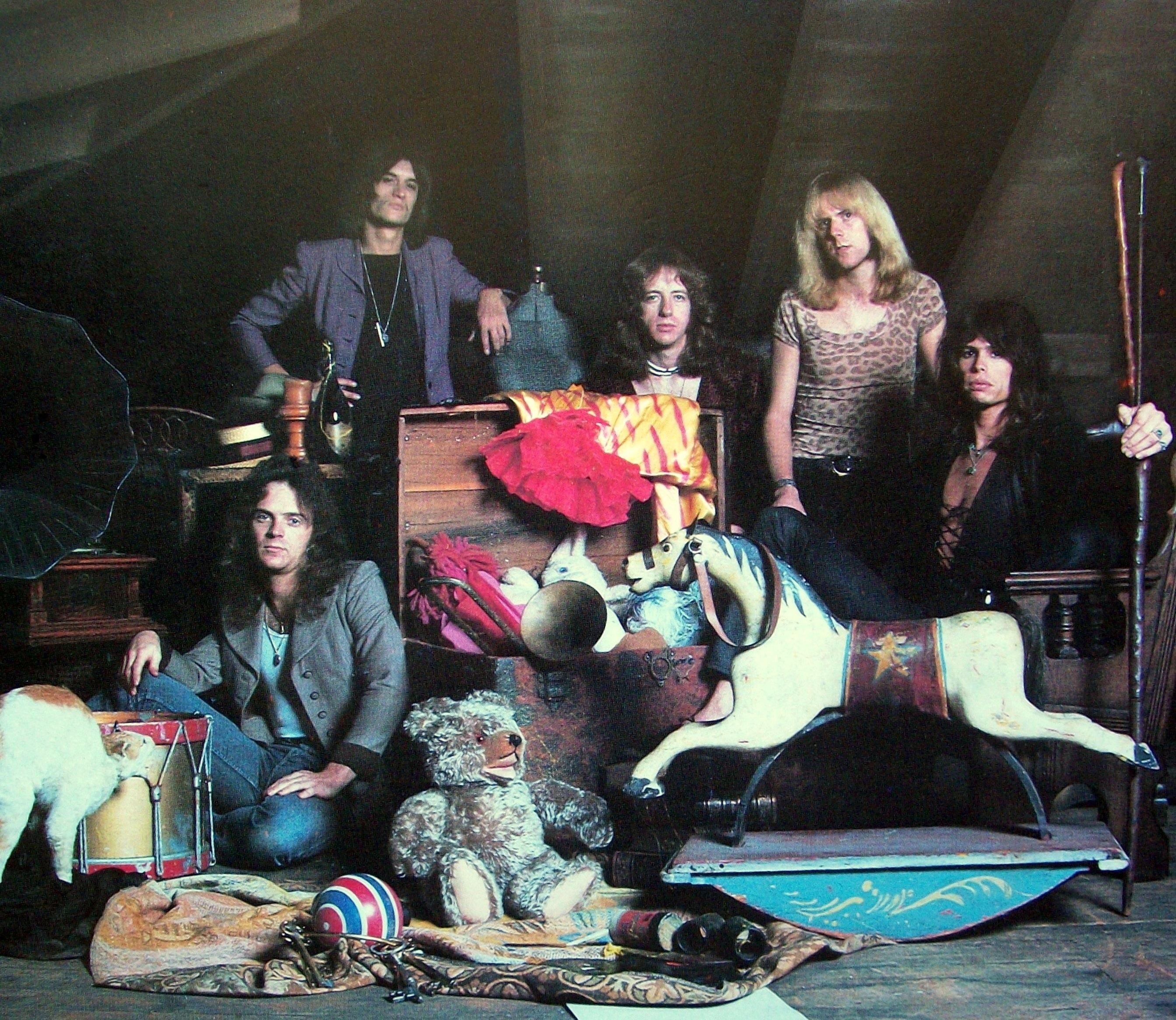 Really. Aerosmith toys in the attic album
