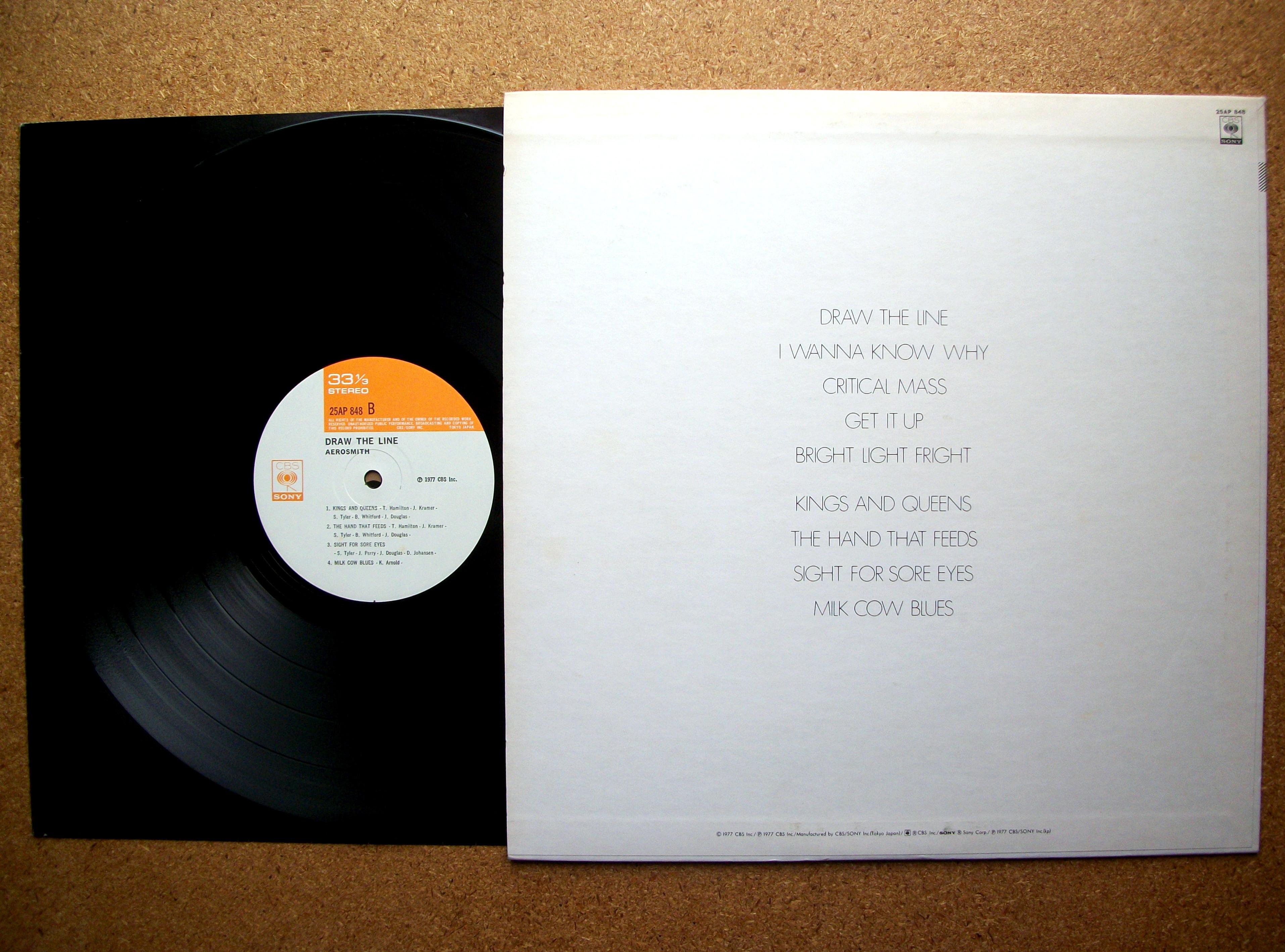 Sinister Vinyl Collection Aerosmith Draw The Line 1977